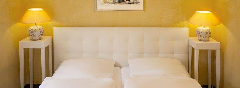 Ansicht des Doppelbettes in der Juniorsuite